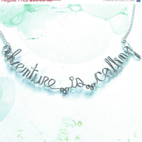 Adventure is Calling Necklace - Inspirational Adventure Wanderlust Boho Gypsy Traveller Necklace