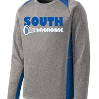Williamsville South HS Mens Lacrosse Sport-Tek Long Sleeve Heather Colorblock Contender Shirt