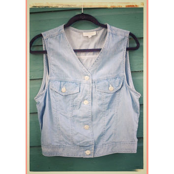 Vintage Jones New York Size M Jean Vest or Top