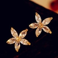 Lady Daisy Rhinestone Fashion Earrings