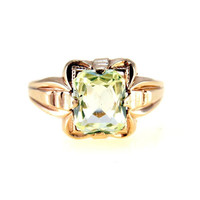 10k Gold Green Spinel Ring