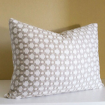 Betwixt Pillow Cover Schumacher Betwixt Pillow Cover -12x20 Lumbar Pillow Cover - Knife edge -
