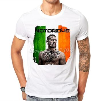 Trendy Melon Cotton Men T-shirt Brand Conor Mcgregor Funny T shirt White Short Sleeve O-Neck Tops Casual Tees Hipster JC10