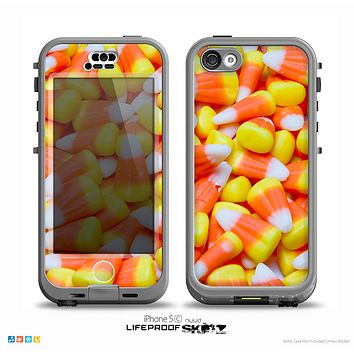 The Candy Corn Skin for the iPhone 5c nüüd LifeProof Case