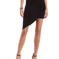 Layered Asymmetrical Mini Skirt by Charlotte Russe