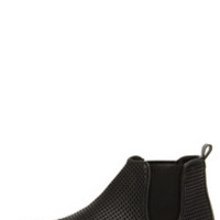 Steve Madden Elvinn Black Perforated Slip-On Sneakers