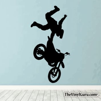 Motocross Wall Decal - Dirt Bike Sticker #00005
