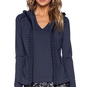 Vimmia Hoode Pleat Jacket in Navy