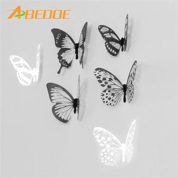 ABEDOE Wall Stickers 8pcs Decal Wall Stickers DIY Home Decorations 3D Butterfly for Living Room Christmas Party DIY Decor