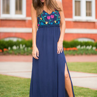 Look Around You Maxi Dress, Navy