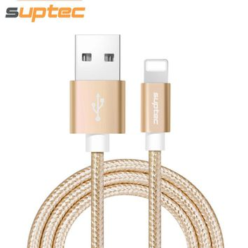 SupTec Nylon Braided USB Charger Cable for iPhone and iPad