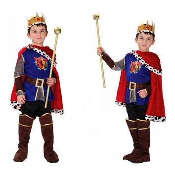 DCCKH6B Kids King Cosplay Costume For Boy Halloween Costume for Kids Children Cosplay Costume Christmas Prince Carnaval Costume