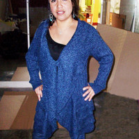 Peruvian Design Alpaca Wool Boucle Cardigan for Women.
