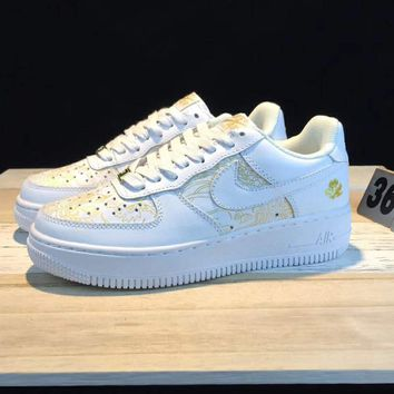 NIKE Air Force 1 AFT LOW Contrast Sports shoes White G-CSXY
