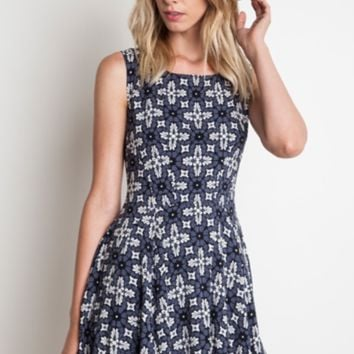 Fit & Flare Patterned Dress