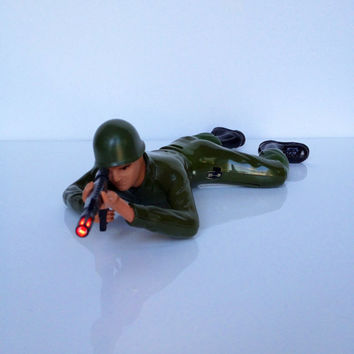 Vintage Commando Crawling Force Soldier Electronic Toy