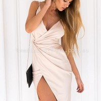 A Night In Town Dress (Nude) | Xenia Boutique | Women's fashion for Less - Fast Shipping