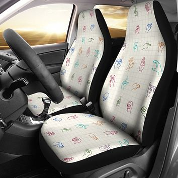 Sign Language Car Seat Covers
