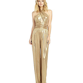 Sam Edelman Cross-Front Jumpsuit - Gold