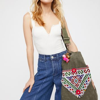 Free People Beaded Knapsack
