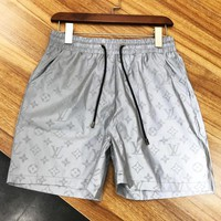 LV 2019 new 3M reflective men's wild casual sports shorts