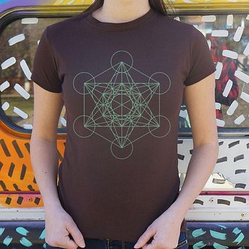 Ladies Metatron's Cube Diagram T-Shirt