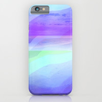 Seascape in Shades of Green Purple and Blue iPhone & iPod Case by Jenartanddesign