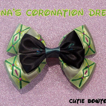 Coronation Dress Anna Hair Bow Frozen Disney Inspired