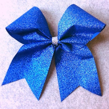 Royal Blue Sparkle Cheer Bow