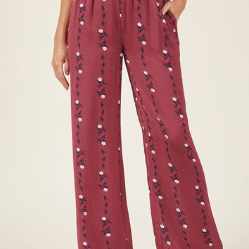 Floral Wide-Leg Palazzo Pants