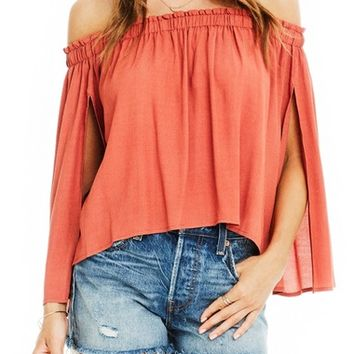 Astr Annabelle Off the Shoulder Blouse | Nordstrom