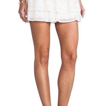 Alice And Olivia Ruba Crochet Ruffled Skirt, Nwt (Alice + Olivia)