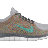 Nike Free 4.0 Flyknit iD Custom Women's Running Shoes - Grey