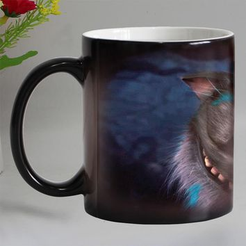 Lovely  cat animals Heat Reveal Mug Ceramic Change color Coffee Mug