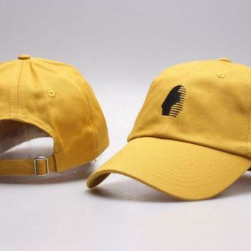 DCCKUNT The New Last Kings Visor Unisex Outdoor Couple's Cotton Baseball Cap - Yellow