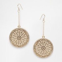 River Island Delicate Encrusted Filigree Dangle Earrings