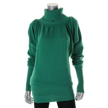 Catherine Malandrino Womens Wool Cold Sleeves Tunic Sweater