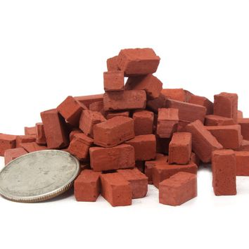 1:18 Scale Mini Red Bricks (100pk)