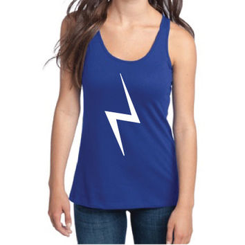 Harry Potter Inspired Clothing - Lightning Bolt Semi-Fitted Racerback Tank - Ladies