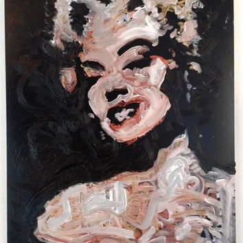 Marilyn Monroe Art 18x24 Metallic Art Pop Art Painting Original Oil Painting Canvas Painting Canvas Wall Art Spring Gifts for Her