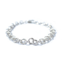 Silver bracelet, Silver rings bracelet, for womens and mens