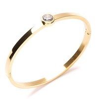Jewel Cuff Bracelet Gold - Happiness Boutique