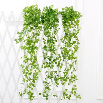 2.4m Artificial Ivy Vine Leaf Fake Sweet Potato Foliage Garland Plant Home Wedding Decoration Hanging Garland Decor