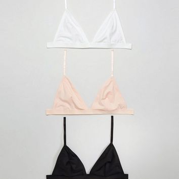 ASOS 3 Pack Microfibre Triangle Bra at asos.com