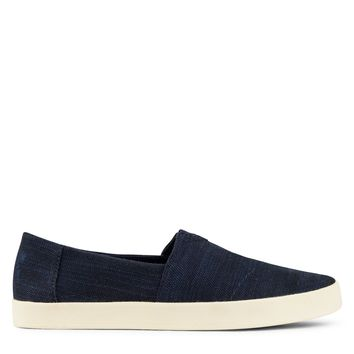 Toms Avalon Slip-Ons Men's - Navy Slubby