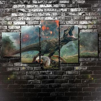 Jurassic World Kingdom Fallen Five Piece Canvas