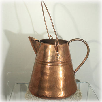 Copper Coffee Pot, Copper Water Kettle, Hanging Coffee Pot, Copper Vase, Home Decor