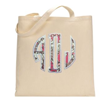 Sorority Lilly Monogrammed Tote Bag