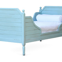 Sky Blue Beach House Bed, Twin, Panel Beds