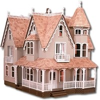 The All Wood Garfield Dollhouse Kit by Greenleaf Dollhouse